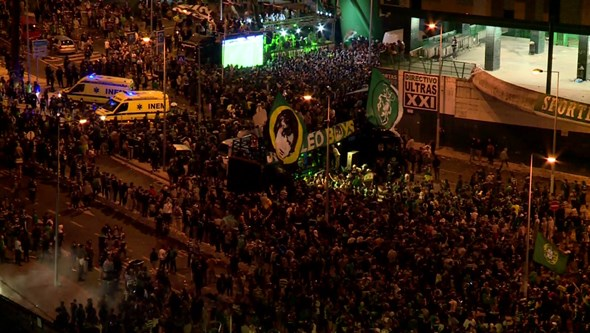 Festa do Sporting com ecrãs rejeitada pela PSP