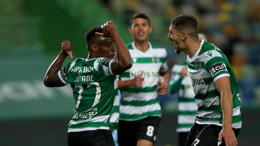 Jovane e Feddal foram os autores dos golos da vitória que deixa o Sporting à beira de um jackpot