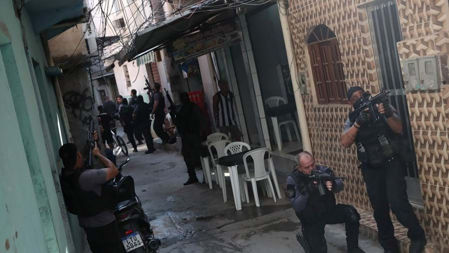 Operação policial em favela do Rio de Janeiro