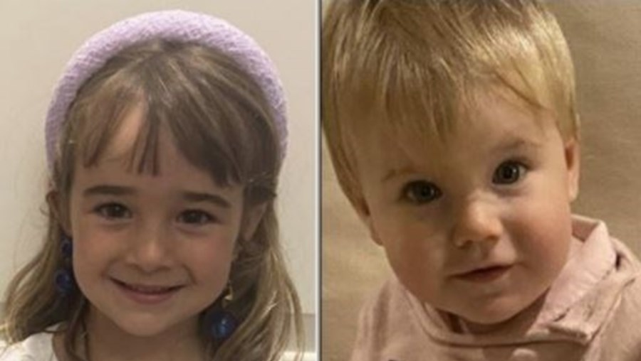 Olivia e Anna de seis e um ano