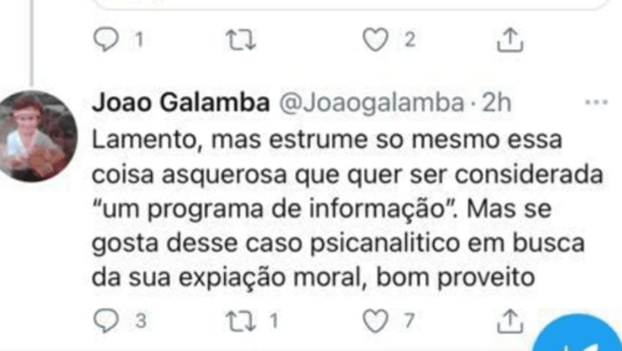 """Secretário de Estado apaga post em que apelida de """"estrume' e """"coisa asquerosa"""" o """"Sexta às 9"""" da RTP"""