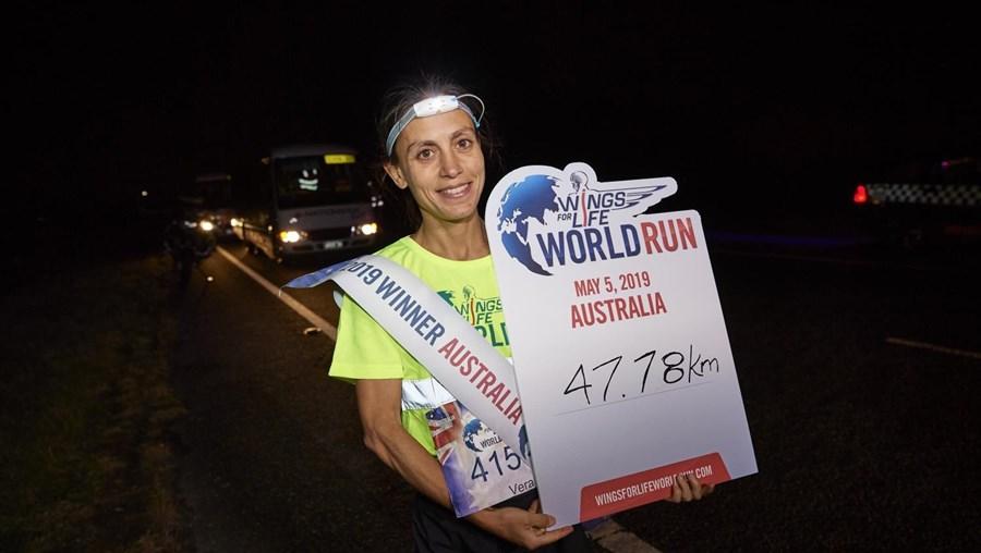 Vera Nunes terminou na segunda posição global a Wings for Life World Run