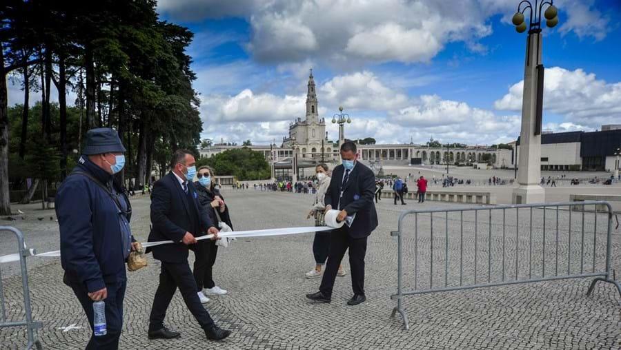 Peregrinos no Santuário de Fátima para as celebrações do 12 e 13 de maio