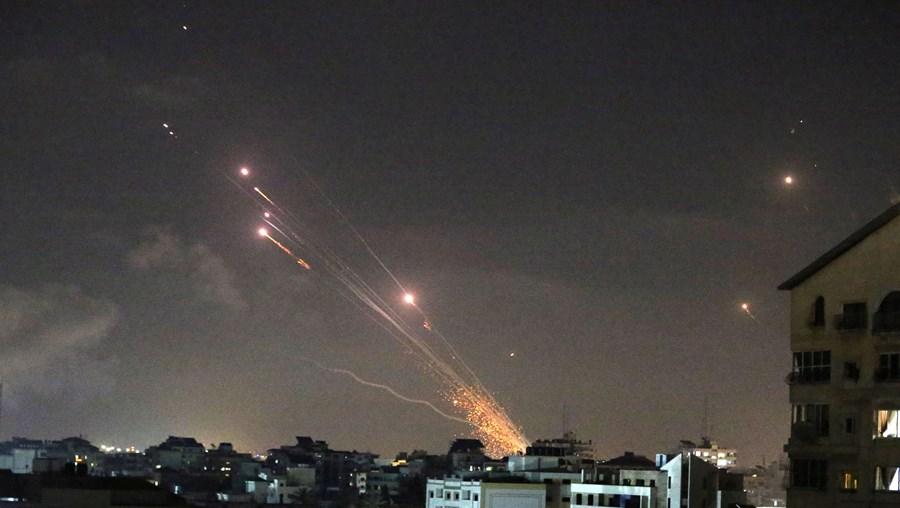 Rockets lançados entre Israel e Palestina