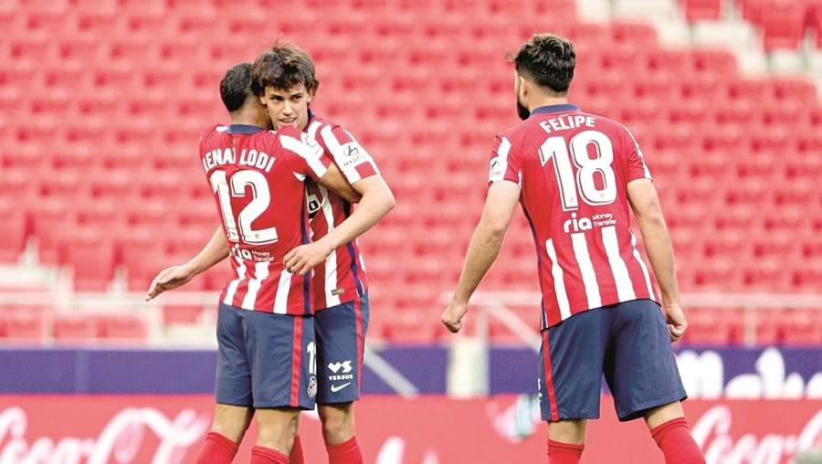 João Félix entrou e fez a assistência para o primeiro golo do At. Madrid
