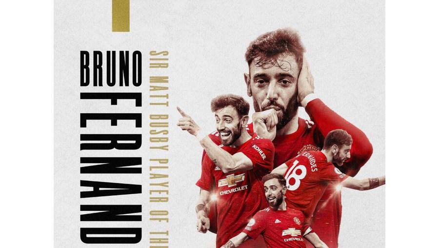 Bruno Fernandes reeleito futebolista do ano do Manchester United