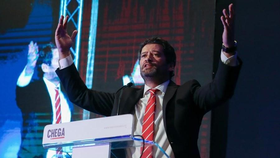 André Venturadurante a intervenção na sessão de abertura do III Congresso Nacional do Chega, em Coimbra, 29 de maio de 2021