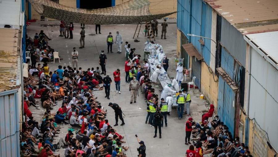 Imigrantes em Ceuta