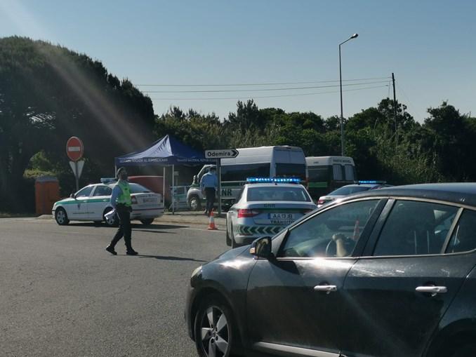Militares da GNR destacados para a cerca sanitária em Odemira sem vacina da Covid-19