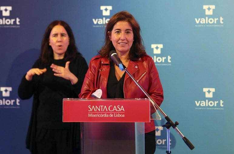 A ministra Ana Mendes Godinho esteve presente na sessão de lançamento do projeto, em Lisboa