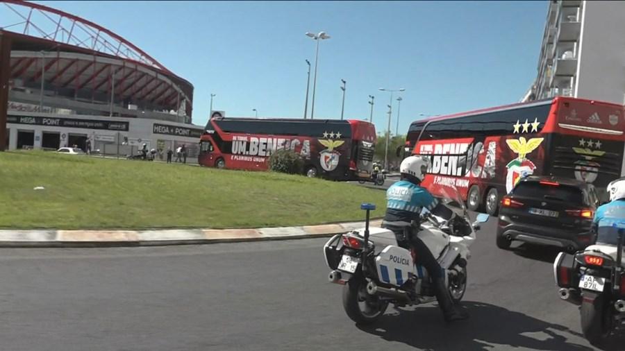 Benfica chega ao Estádio da Luz