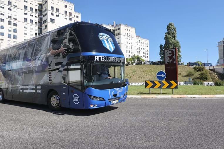 chegada do FC Porto ao Estádio da Luz