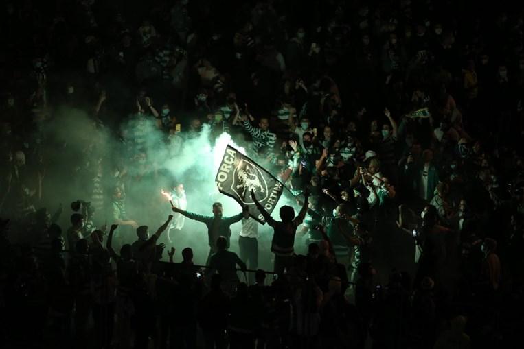Adeptos do Sporting festejam campeonato