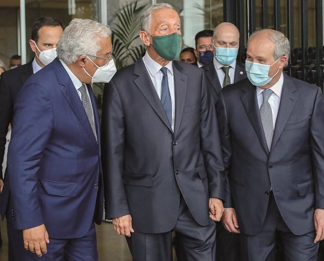 Marcelo Rebelo de Sousa e António Costa na despedida de António Piçarra do cargo de presidente do STJ