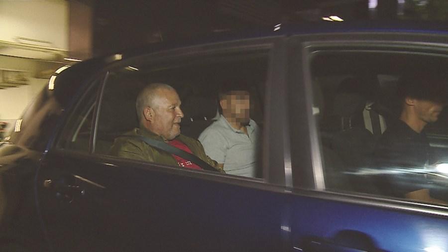 Ilídio Gomes, no momento da detenção, em agosto de 2019