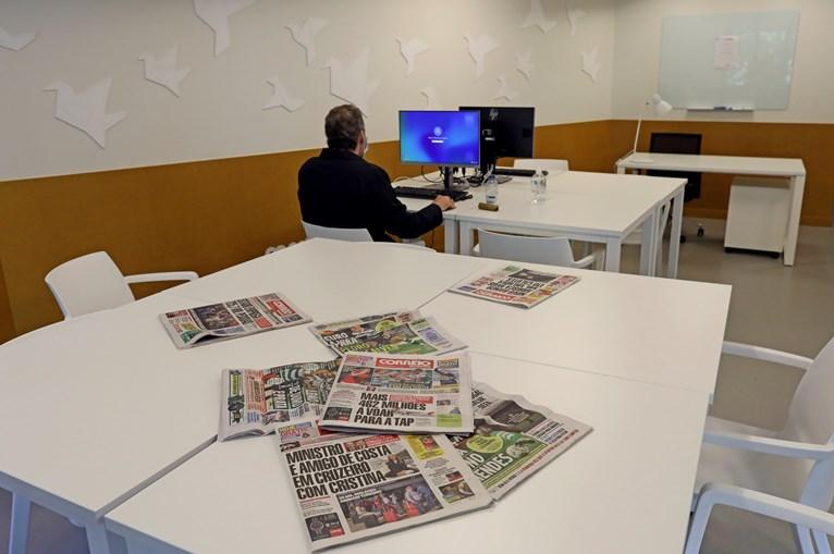 Sala de inclusão digital.