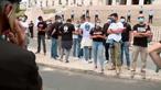 Forças de segurança em protesto em frente à Assembleia da República