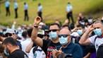 Manifestantes das Forças de Segurança pedem demissão do ministro Eduardo Cabrita