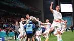 Dinamarca salta de último para os oitavos do Euro após golear Rússia