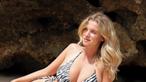 Júlia Palha deslumbra em biquíni e assume curvas ousadas