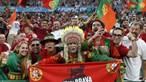 Milhares de adeptos fazem festa nas bancadas do Puskás Aréna para o jogo Portugal-França