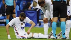 Benzema sai lesionado do particular de França frente à Bulgária