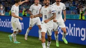 Itália entra a todo o gás no Euro2020 com vitória de 3-0 sobre a Turquia