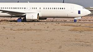 Avião da Seleção Nacional parado três anos no deserto