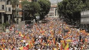 Milhares contestam perdão a separatistas catalães em Madrid