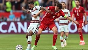 Seleção forte e incisiva na primeira parte do jogo não consegue chegar ao golo. Veja as imagens