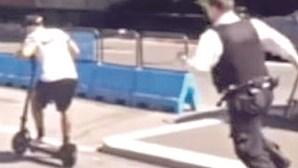 Polícia atira com livro das multas durante perseguição a suspeito
