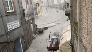 Raios, trovões e chuva intensa fazem-se sentir em Viseu e Vila Real