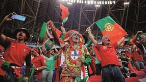 Portugal arranca vitória na estreia do Euro 2020. As imagens da festa lusa na Aréna Púskas