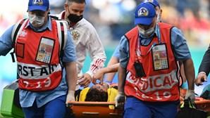 Defesa russo Mário Fernandes sem lesão na coluna vertebral após forte queda em jogo do Euro 2020
