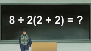 Será que consegue resolver esta conta? Descubra a operação que está a dividir a internet