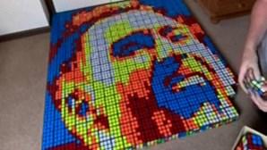 Adepto inglês cria retrato Christian Eriksen com 500 cubos