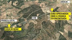 Noah foi encontrado em zona florestal a quatro quilómetros de casa