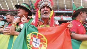 Nem a força das claques valeu a Portugal no jogo frente a Alemanha