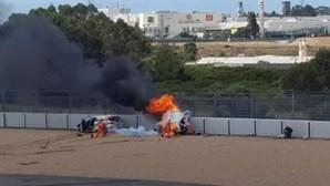 Violento acidente no Autódromo do Estoril faz dois feridos