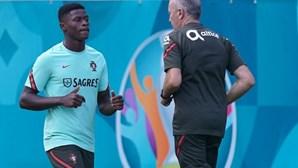 Nuno Mendes foi o único indisponível no derradeiro treino antes de Portugal-França