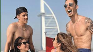 Craques do Benfica desfrutam de dias de férias