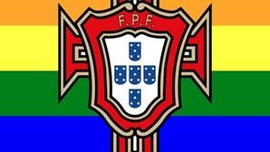 Seleção Nacional pinta símbolo com cores do arco-íris após polémica com UEFA