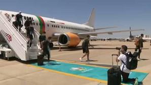 Cerca de 30 adeptos receberam Seleção Portuguesa em Sevilha