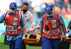 Mário Fernandes sofreu forte queda durante jogo do Euro 2020