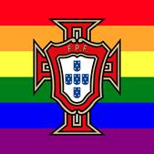 Símbolo da FPF pintou-se com as cores da bandeira LGBT