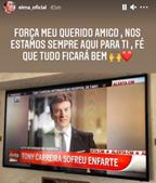 'Força meu querido amigo': irmã de Cristiano Ronaldo deixa mensagem a Tony Carreira