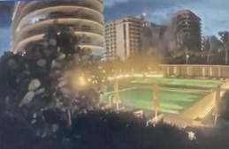O momento em que um prédio de 11 andares desabou em Miami