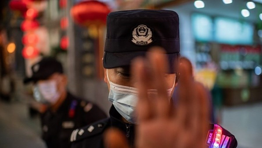 Polícia na China