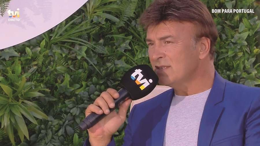 Tony Carreira esteve esta quinta-feira à tarde na TVI para participar na emissão especial 'Bom Para Portugal'