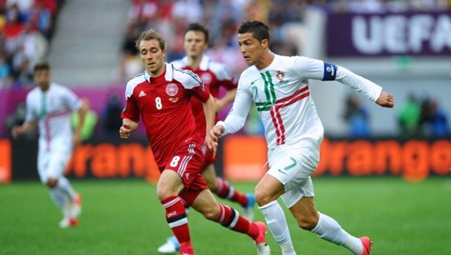 Cristiano Ronaldo deseja melhoras a Eriksen após momento dramático em campo
